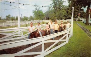 Schererville Indiana~Sauzer's Kiddieland~Horses & Ponies~Miniature RR Track~1960