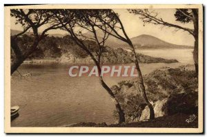 Old Postcard La Corniche D & # 39Or L & # 39anse Long Camp and the tip of the...