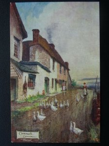 Cornwall COVERACK Cottages Artist Jotter c1904 Postcard by Raphael Tuck 1681