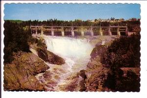 Power Dam and Falls, Grand Falls, New Brunswick, Photo Michaud