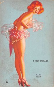 Pin-Up Girl a Neat Package Earl Moran Mutoscope Vintage Arcade Card AA35395