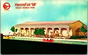HEMISFAIR 68 San Antonio Texas Expo Postcard PEARL BREWING CO. PAVILION Beer
