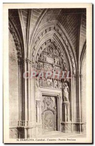 Old Postcard Pamplona Catedrale Cloister Puerta Preciosa