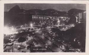 RP; Rio de Janerio, Aerial View at Night, Praga Paris, Brazil, PU-1948