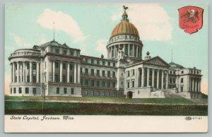 Jackson Mississippi~State Capitol Building~Vintage Postcard