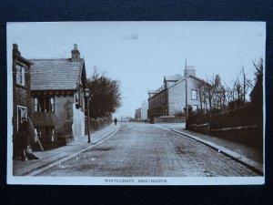 Lanc's HASLINGDEN Whitecroft HELMSHORE ROAD & VICTORIA PARK c1918 RP Postcard
