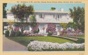 California Beverly Hills Residence Of Mr and Mrs George Burns Gracie Allen Cu...