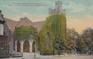 ELIZABETH , New Jersey , 1900-10s; Central Baptist Church, East Jersey Street