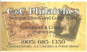 C & C PHILATELICS / COINS, STAMPS & POSTCARDS