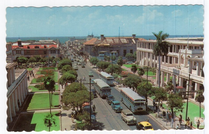 Kingston, Jamaica, King Street, Looking Towards Harbour