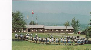 TSOONA,  B.C. , Canada , 1950-60s; Girl Guides form a Horseshow