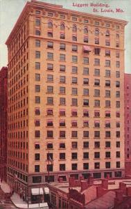 St Louis Missouri~Liggett Building~Chestnut Street~Demolished 1984~1912 Postcard