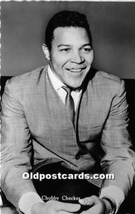 Black Entertainer Postcard Chubby Checker