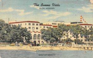 THE BUENA VISTA Gulf of Mexico Biloxi, Mississippi Hotel Vintage 1948 Postcard