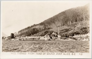 Port Alice BC Mill Whalen Pulp & Paper ?? Unused Gowen Sutton RPPC Postcard G84
