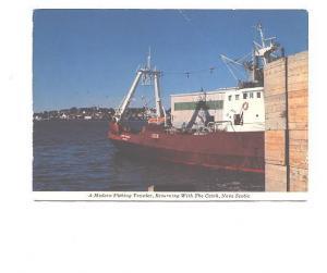 Modern Fishing Trawler Returning With Catch, Lunenburg, Nova Scotia