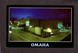 NE Civic Center Auditorium Omaha Nebraska Postcard PC Night View