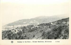 1940s Frasher San Diego California Highway Stars Palomar RPPC real photo 12691