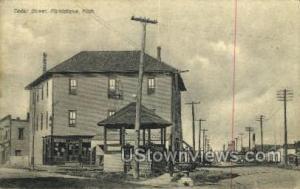 Cedar Street Manistique MI 1909