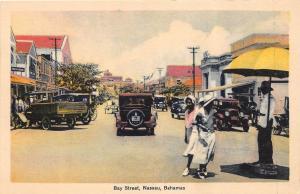 E56/ Foreign Postcard Carribean c1930 Nassau Bahamas Bay Street Stores 2