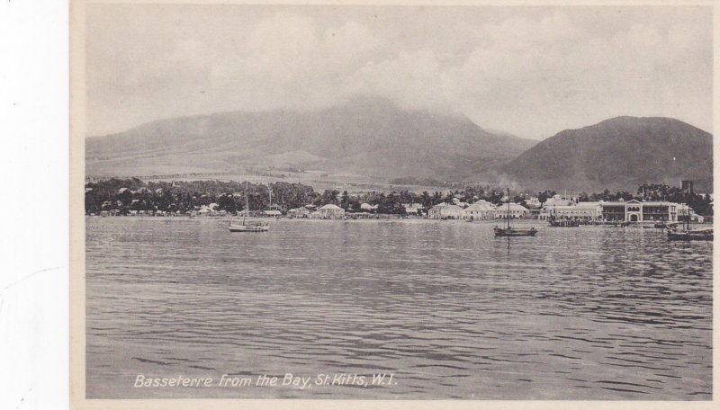 SAINT KITTS , 1900-10s ; Basseterre from the Bay