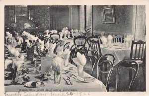 Dining Room, King Arms Hotel, Lockerbie, Scotland, early postcard