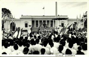indonesia, JAVA JAKARTA, Istana, Palace, Procession (1950s) RPPC Postcard