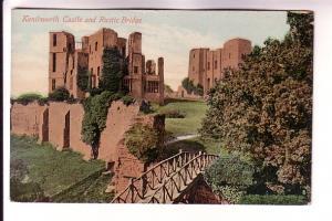 Kenilworth Castle and Rustic Bridge, England,