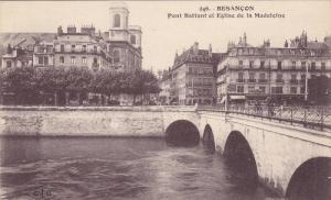 Pont Battant Et Eglise De La Madeleine, Besancon, Doubs, France, 1900-1910s