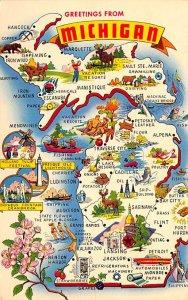Greetings from Michigan, USA  Postcard Unused