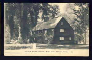Ipswich, Massachusetts/Mass/MA Postcard, The Old Whipple House, 1949!