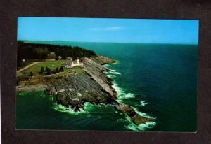 ME Pemaquid Point Light Lighthouse House Maine Postcard