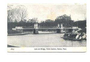 B&W, Lake, Bridge, Public Gardens, Boston Massachusetts,
