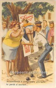 Old Vintage Lawn Bowling Postcard Post Card Je commence a comprendre pourquoi...