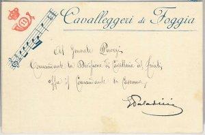49767  CARTOLINA d'Epoca - FOGGIA  REGGIMENTALI - Cavalleggieri di Foggia MUSICA