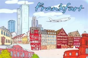 Art Postcard, Frankfurt, Germany, Landmarks, City, View, Travel 00H