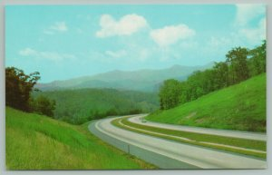 Western North Carolina~Interstate Highway 40 Towards Mountains~c1960 Postcard