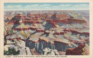 Arizona Grand Canyon View From Near El Tovar Hotel Fred Harvey