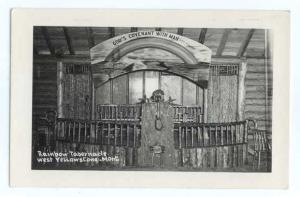 RPPC of Rainbow Tabernacle Interior, West Yellowstone, Montana, MT, EKC Real Pho