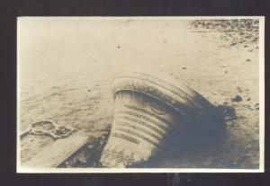 RPPC POLAND SHIPWRECK SHIP DISASTER BELL VINTAGE REAL PHOTO POSTCARD POLISH