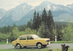 Skoda Rare Car Motokov Praha Czechoslovakia Postcard