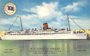 SS Queen of Nassau Eastern Steamship Line Ship 1956