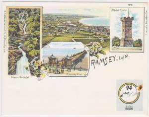 RAMSEY ISLE OF MAN POSTAL CARD