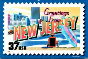 Stamps On Postcards Greetings From New Jersey 2006
