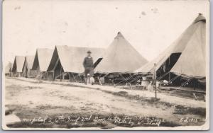 RPPC-WWI, Hospital 26th Inf. 2nd Div. Texas City, Texas, Windhorst- 10/1913