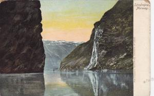 Waterfall, Sondmore, Norway, 1900-1910s