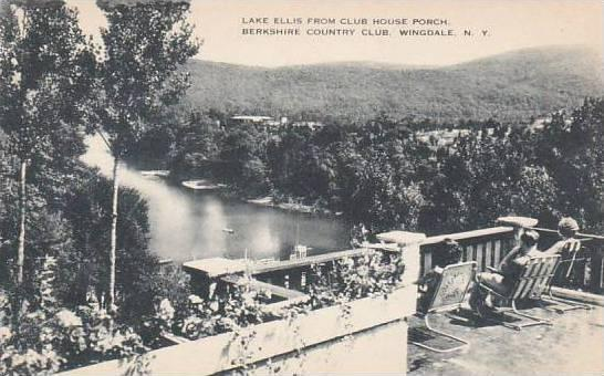 New York Wingdale Lake Ellis From Club House Porch Berkshire Country Club Artvue