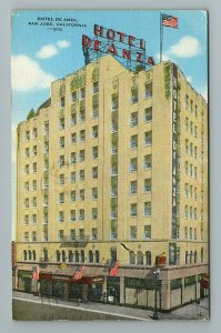 Hotel De Anza, San Jose, California Postcard