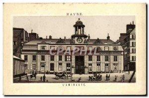 Old Postcard Havre L & # 39Amiraute
