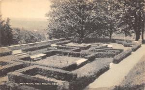 Mendham New Jersey~Villa Pauline Italian Gardens~1940s Mayrose Co Postcard